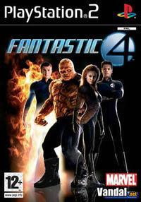 Portada oficial de Los Cuatro Fantásticos para PS2