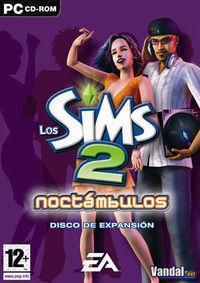 Portada oficial de Los Sims 2: Noctámbulos para PC