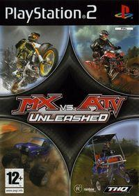 Portada oficial de MX vs. ATV Unleashed para PS2