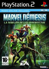 Portada oficial de Marvel Nemesis: Rise of the Imperfects para PS2