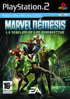 Portada oficial de de Marvel Nemesis: Rise of the Imperfects para PS2