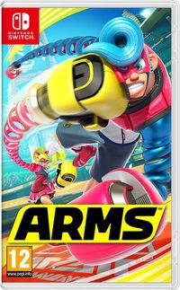 Portada oficial de ARMS para Switch