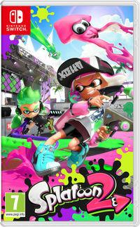 Portada oficial de Splatoon 2 para Switch