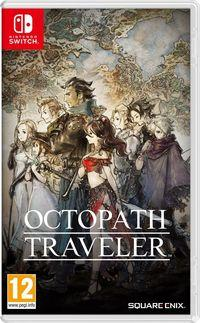 Portada oficial de Octopath Traveler para Switch