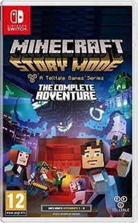 Portada oficial de Minecraft: Story Mode - La aventura completa para Switch