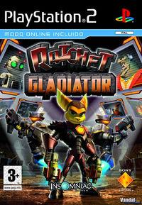 Portada oficial de Ratchet: Gladiator para PS2