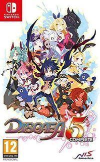 Portada oficial de Disgaea 5 Complete para Switch