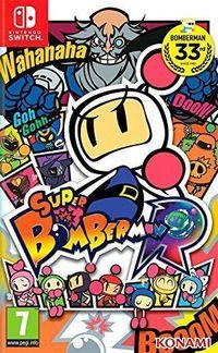 Portada oficial de Super Bomberman R para Switch
