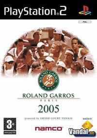 Portada oficial de Roland Garros 2005 Powered by Smash Court Tennis para PS2