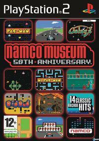 Portada oficial de Namco Museum 50th Anniversary para PS2