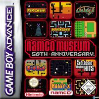 Portada oficial de Namco Museum 50th Anniversary para Game Boy Advance