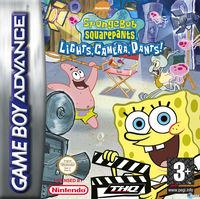 Portada oficial de SpongeBob SquarePants: Lights, Camera, PANTS! para Game Boy Advance