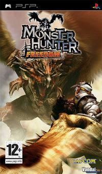 Portada oficial de Monster Hunter Freedom para PSP