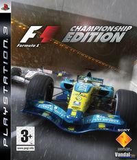 Portada oficial de Formula One Championship Edition para PS3
