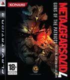 Portada oficial de de Metal Gear Solid 4: Guns of the Patriots para PS3