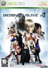 Portada oficial de Dead or Alive 4 para Xbox 360