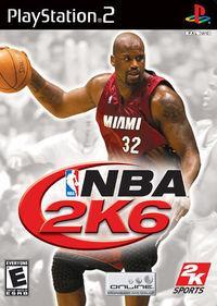 Portada oficial de NBA 2K6 para PS2