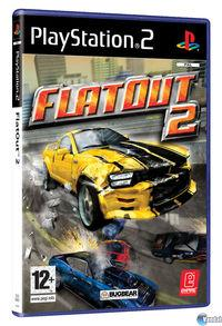 Portada oficial de FlatOut 2 para PS2
