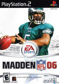 Portada oficial de Madden NFL 2006 para PS2
