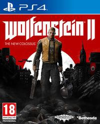 Portada oficial de Wolfenstein II: The New Colossus para PS4