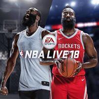 Portada oficial de NBA Live 18 para PS4
