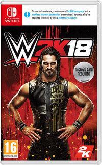 Portada oficial de WWE 2K18 para Switch