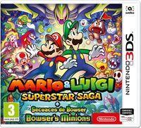 Portada oficial de Mario & Luigi: Superstar Saga + Secuaces de Bowser para Nintendo 3DS