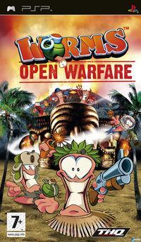 Portada oficial de Worms Open Warfare para PSP