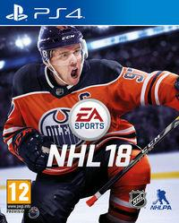 Portada oficial de NHL 18 para PS4