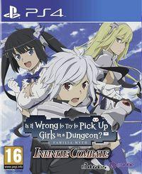 Portada oficial de Is It Wrong to Try to Pick Up Girls in a Dungeon? - Infinite Combate para PS4