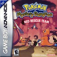 Portada oficial de Pokémon Mystery Dungeon: Red Rescue Team para Game Boy Advance
