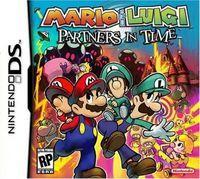 Portada oficial de Mario & Luigi: Partners in Time para NDS