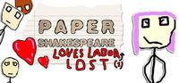 Portada oficial de Paper Shakespeare: Loves Labor(s) Lost para PC