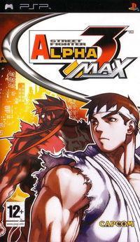 Portada oficial de Street Fighter Alpha 3 Max para PSP