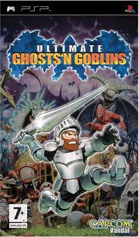 Portada oficial de Ultimate Ghosts 'n' Goblins para PSP