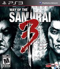 Portada oficial de Way of the Samurai 3 para PS3