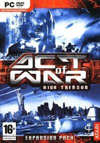 Portada oficial de Act of War: High Treason para PC