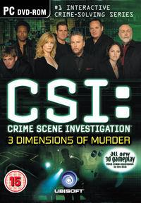 Portada oficial de CSI: 3 Dimensions of Murder para PC