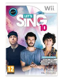 Portada oficial de Let's Sing 10 para Wii