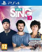 Portada oficial de de Let's Sing 10 para PS4