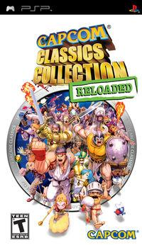 Portada oficial de Capcom Classics Collection Reloaded para PSP