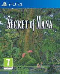 Portada oficial de Secret of Mana para PS4