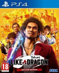 Portada oficial de Yakuza: Like a Dragon para PS4