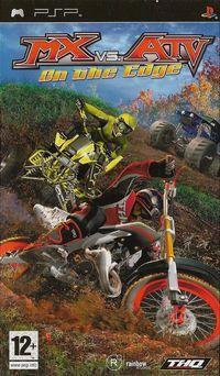 Portada oficial de MX vs. ATV Unleashed: On The Edge para PSP