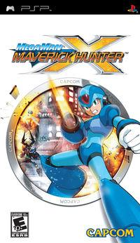 Portada oficial de Mega Man Maverick Hunter X para PSP