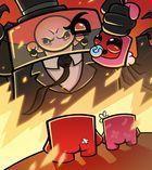 Portada oficial de de Super Meat Boy Forever para Switch