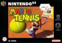 Portada oficial de Mario Tennis 64 para Nintendo 64