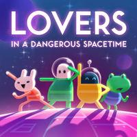 Portada oficial de Lovers in a Dangerous Spacetime para Switch