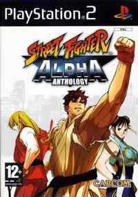 Portada oficial de Street Fighter Alpha Anthology para PS2