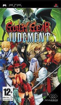 Portada oficial de Guilty Gear Judgment para PSP